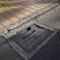 道路から下水道に水を流す雨水ます