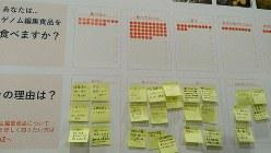 「ゲノム編集の未来を考える会」は科学イベントの来場者に「ゲノム編集食品を食べますか?」を回答してもらった=東京都内で2019年11月17日