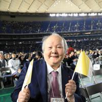 フランシスコ・ローマ教皇のミサが行われる東京ドームに来た加藤一二三さん=東京ドームで2019年11月25日午後1時27分、梅村直承撮影