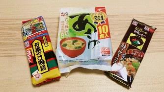 永谷園の代表的な商品=2019年11月20日、田中学撮影