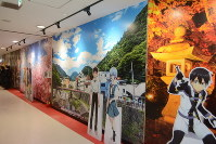 Large anime panels of popular series including