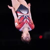 トランポリン女子個人予選、森ひかるの第2自由演技=有明体操競技場で2019年11月28日、宮間俊樹撮影