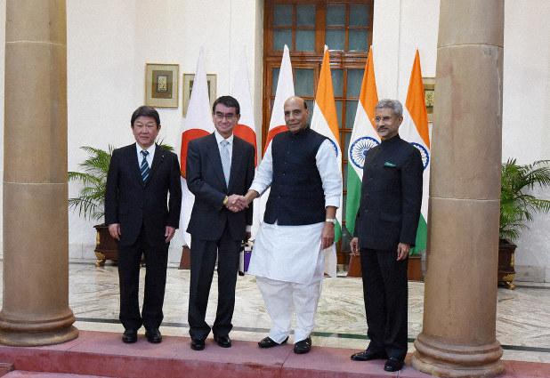 「日本インド 2+2」の画像検索結果