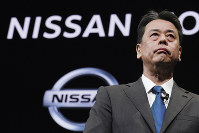 Nissan Chief Executive Makoto Uchida speaks during a press conference at the automaker's headquarters in Yokohama, near Tokyo, on Dec. 2, 2019. (AP Photo/Eugene Hoshiko)