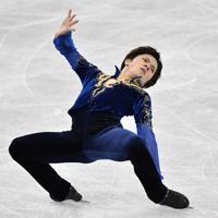 男子フリーで演技する宇野昌磨=名古屋市南区の日本ガイシホールで2017年12月8日、宮間俊樹撮影