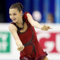 女子SPで2位につけたソトニコワ=マリンメッセ福岡で2013年12月5日、貝塚太一撮影
