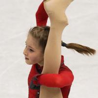 フィギュアスケート・グランプリファイナル福岡2013女子シングルで2位になったリプニツカヤのフリーの演技=マリンメッセ福岡で2013年12月7日、山本晋撮影