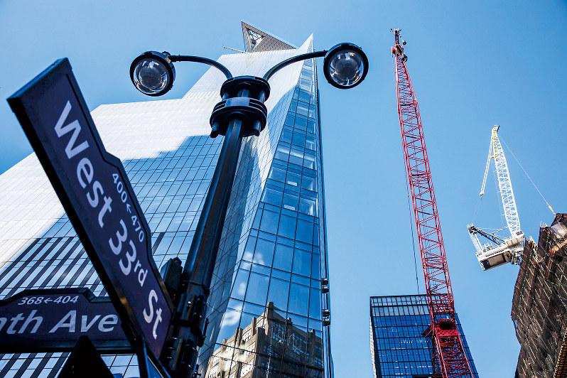 再開発が進むマンハッタンのハドソンヤード(Bloomberg)