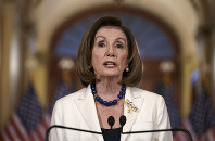Speaker of the House Nancy Pelosi, D-Calif., makes a statement at the Capitol in Washington, on Dec. 5, 2019. (AP Photo/J. Scott Applewhite)