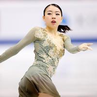 女子フリーで演技する、4位となった紀平梨花=イタリア・トリノのパラベラ競技場で2019年12月7日、貝塚太一撮影