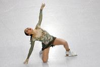 Japan's Rika Kihira competes in the women's free skating program during the figure skating Grand Prix finals at the Palavela ice arena, in Turin, Italy, Saturday, Dec. 7, 2019. (AP Photo/Antonio Calanni)