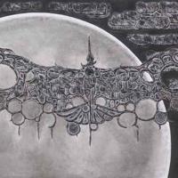 下村良之介「月明を翔く<那>」1988年、紙粘土、顔料・紙