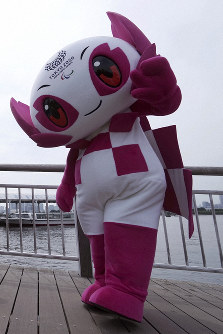 In this July 22, 2018 file photo, Tokyo 2020 Paralympic mascot