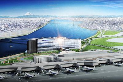 羽田エアポートガーデン(中心)の完成イメージ