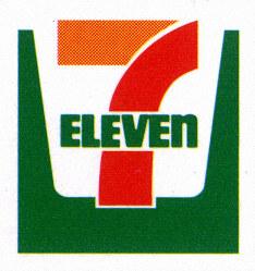 The Seven-Eleven convenience store logo.