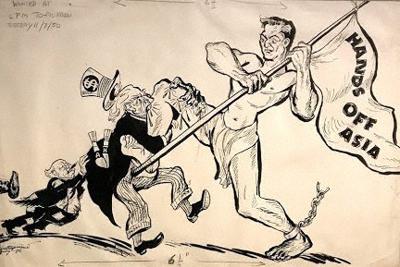 チッタプロサド「アジアから手を放せ」1950年、キラン・ナダール美術館蔵