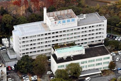 入院患者を巡る不正死亡診断が発覚した大阪病院=大阪府寝屋川市で2019年12月18日午後2時半、本社ヘリから幾島健太郎撮影