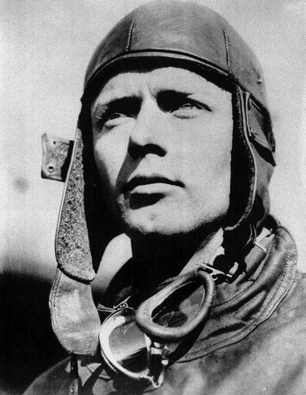 大西洋単独無着陸飛行を成し遂げた米国人の故チャールズ・リンドバーグ