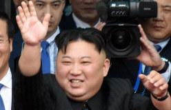 北朝鮮の金正恩朝鮮労働党委員長=2019年3月2日、西脇真一撮影