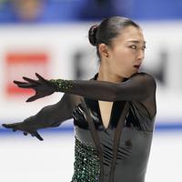 女子フリーで演技する坂本花織=東京・国立代々木競技場で2019年12月21日、佐々木順一撮影