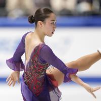 2位になった樋口新葉のフリーの演技=東京・国立代々木競技場で2019年12月21日、佐々木順一撮影