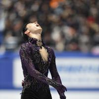 男子フリーで演技を終え、「疲れた」と声を出す羽生結弦=東京・国立代々木競技場で2019年12月22日、竹内紀臣撮影