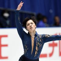 男子フリーで演技する宇野昌磨=東京・国立代々木競技場で2019年12月22日、竹内紀臣撮影