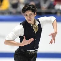 男子フリーで演技する田中刑事=東京・国立代々木競技場で2019年12月22日、竹内紀臣撮影