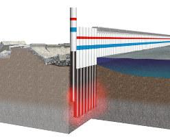 技研製作所のインプラント工法を堤防で使う際のイメージ(同社提供)