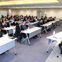 シンポジウムは高校、大学関係者など多くの参加者が詰めかけた=東京都千代田区の毎日ホールで11月22日