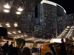 近代的なホテルなどが建ち並ぶMGMリゾーツのIR「シティ・センター」=米ラスベガスで2017年1月5日、土屋渓撮影