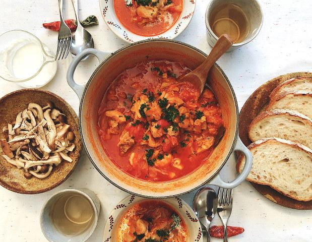 煮 献立 トマト 鶏肉