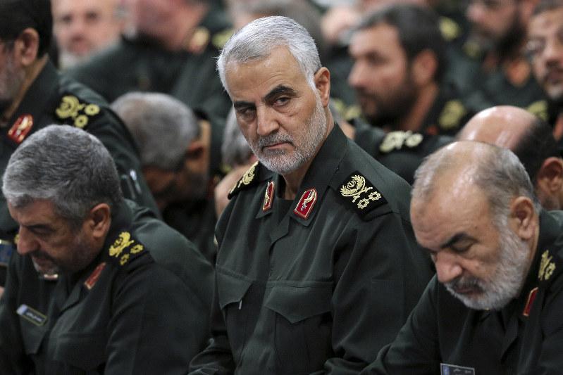 イラン革命防衛隊「コッズ部隊」のスレイマニ司令官=AP