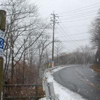 「秋名山」としてドライビングシーンが撮影された県道33号=群馬県渋川市で