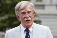 In this July 31, 2019 file photo, then National security adviser John Bolton speaks to the media at the White House in Washington. (AP Photo/Carolyn Kaster)