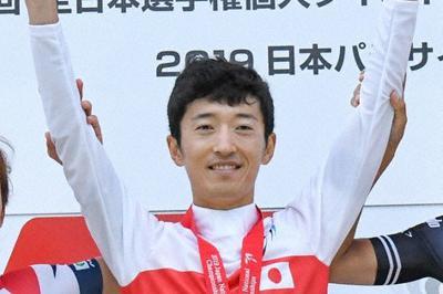 昨年6月の全日本選手権個人タイムトライアルで優勝した増田成幸選手=静岡県で、宇都宮ブリッツェン提供