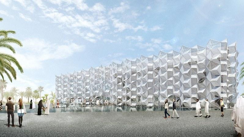 ドバイ万博の日本館完成図