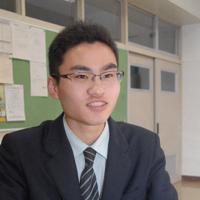 高校生部門優秀賞の喜びを語る美幌高校の佐々木快さん=北海道美幌町の美幌高校で