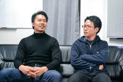 DeepX創業者の那須野薫氏(左)と冨山翔司氏