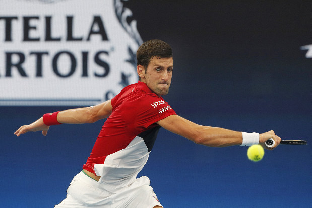 Tennis Djokovic Beats Shapovalov Leads Serbia Into Atp Cup Semis The Mainichi