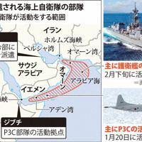 中東に派遣される海上自衛隊の部隊と活動範囲