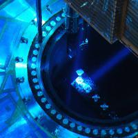 原子炉内にあるMOX燃料を含めた核燃料(中央)=愛媛県伊方町の四国電力伊方原発の3号機で2010年2月10日午後6時7分、宮間俊樹撮影
