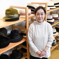 西川製帽の西川綾さん=大阪市東住吉区で、柴山雄太撮影
