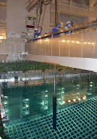 A spent nuclear fuel rod is seen stored in a pool at the No. 3 reactor building at the Ikata Nuclear Power Plant in the Ehime Prefecture town of Ikata on Jan. 14, 2020. (Pool photo)