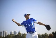In this Jan. 14, 2020 photo, Danny Valencia throws a ball during Israel's national baseball team practice, in Tel Aviv, Israel. (AP Photo/Ariel Schalit)