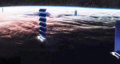 宇宙インターネット計画「スターリンク」の想像図(提供SpaceX)