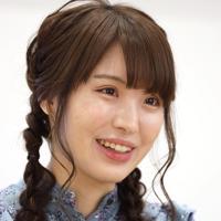 インタビューに答える山口恵梨子女流二段=東京都渋谷区神宮前で、尾籠章裕撮影