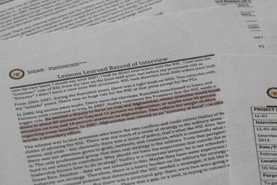 米軍幹部らがアフガニスタン戦争の目的に疑問を感じていたことを明らかにした「アフガニスタン・ペーパーズ」の一部=米紙ワシントン・ポストのウェブサイトから