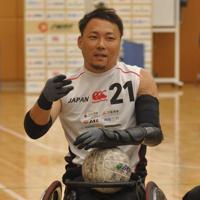 車いすラグビー日本代表の中心選手である池透暢=東京都北区で2020年1月16日午後2時18分、岩壁峻撮影