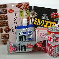「すこやか」をテーマとした森永製菓の商品群=上杉恵子撮影